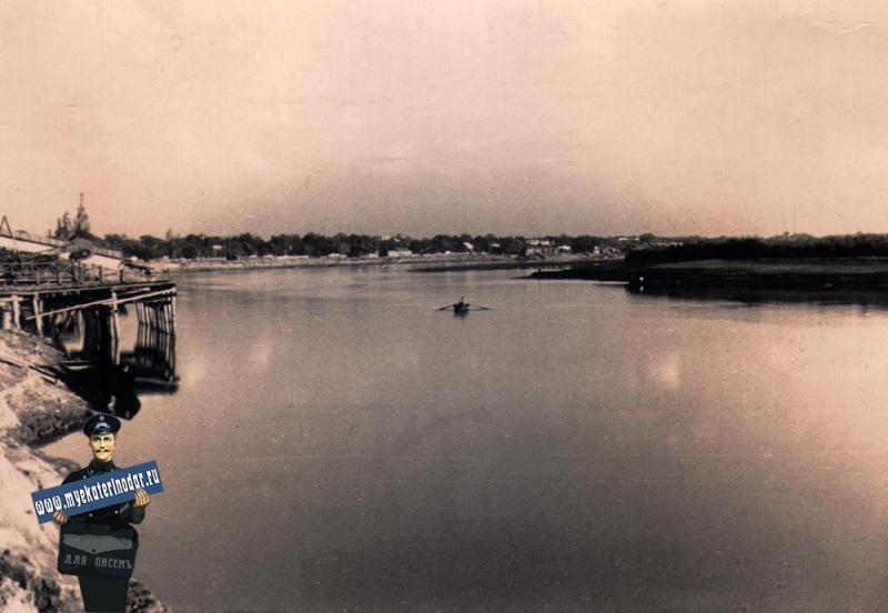 Краснодар. Вид на город (к центру), осень 1942 года
