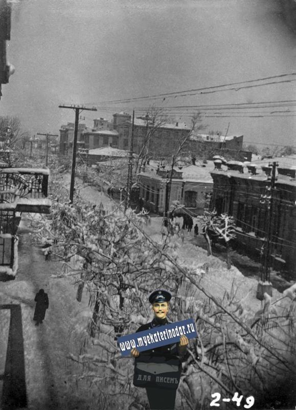 Краснодар. Вид на пересечение Шауямна (Рашпилевской) и Гоголя.