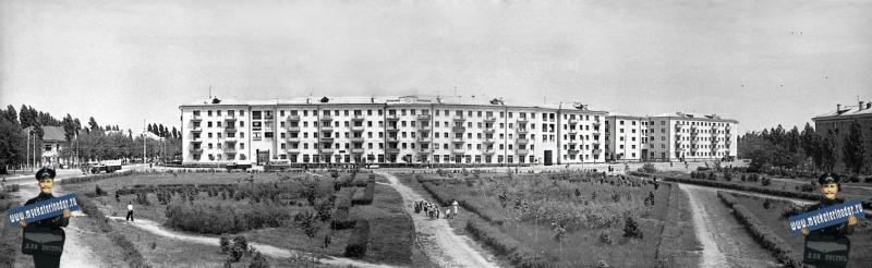Краснодар. Вид с Кургана на улицу Офицерскую. год: 1963
