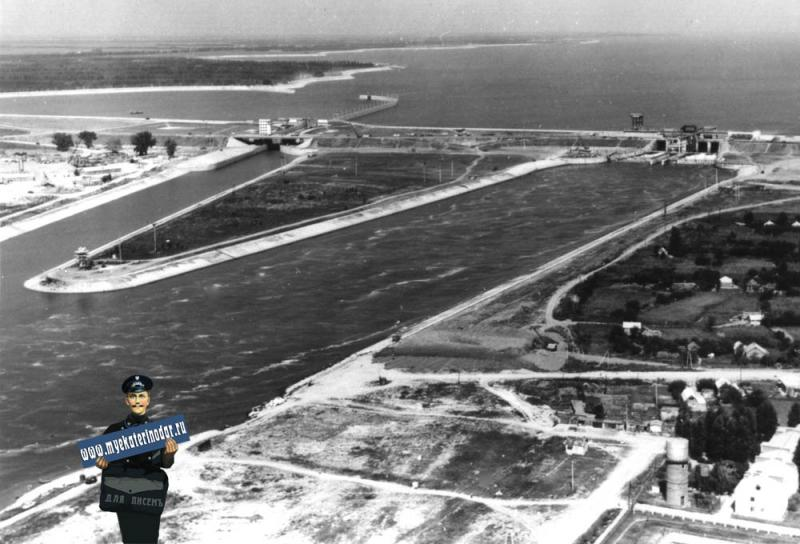Краснодар. Водосброс Кубанского водохранилища, 1976 год