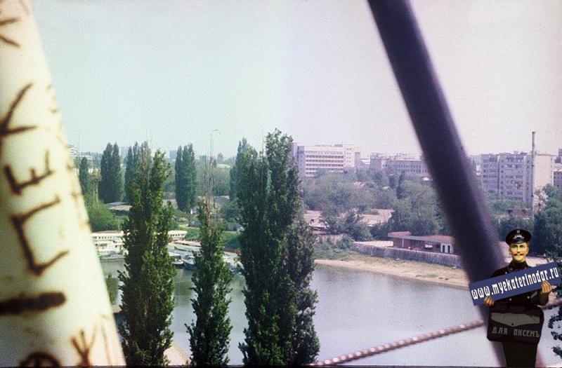 Краснодар. Затон. Вид с колеса обозрения, 1987 год