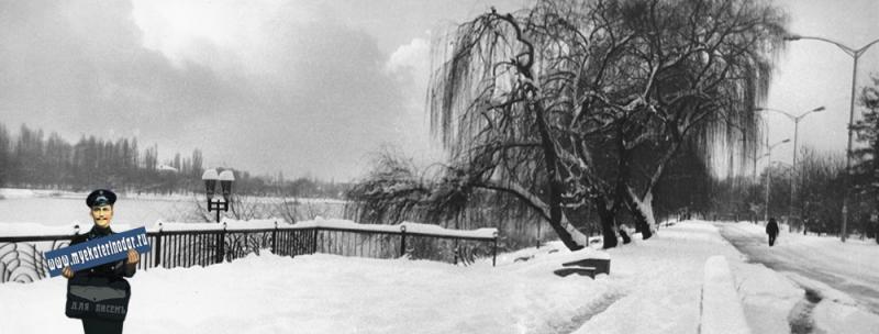 Краснодар. Зимой на верхнем Покровском озере.