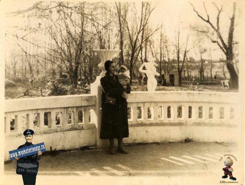 Краснодар. Парк им. Горького. Пруд, 1957 год