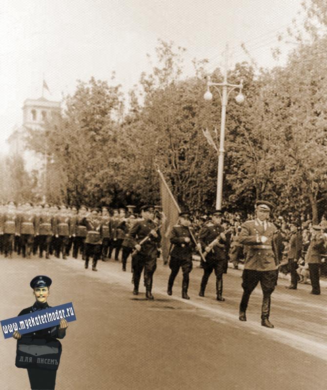 Краснодар. Первомайский парад, 1959 год.