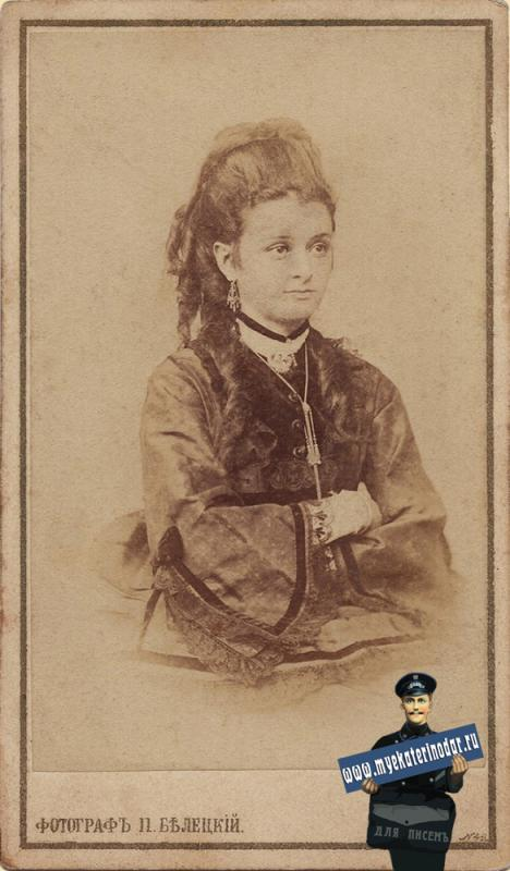 Екатеринодар. Портрет девушки. Фотография П.С. Белецкого.