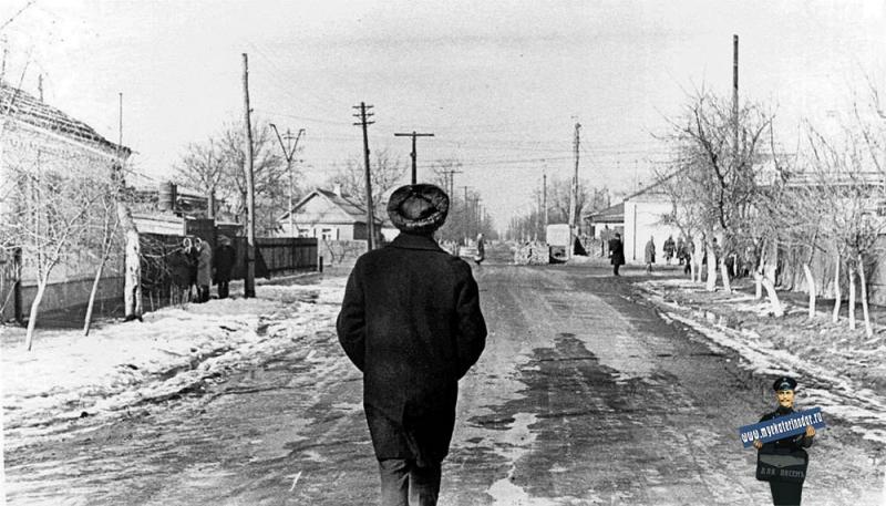 Пос. Пашковский. Пересечение ул. Ярославского и Красной (ныне ул. Бершанской), 1972 год
