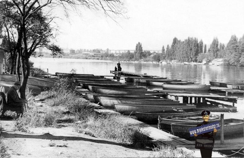 Краснодар. Река Кубань, 1960 год