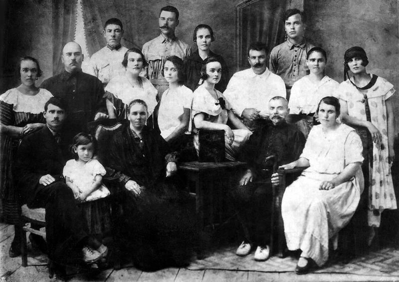 Краснодар. Семья Казака Иона Литвиненко.