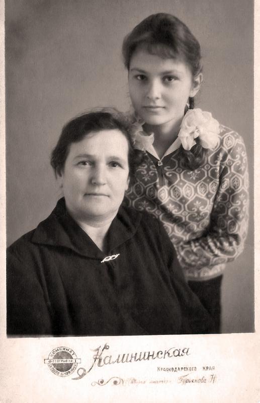 ст.Калининская. Школьные годы. 1965 год.