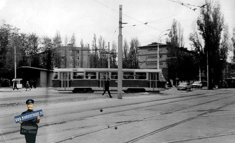 Краснодар. Перекресток ул. Ставропольской и Стасова, 1985 год