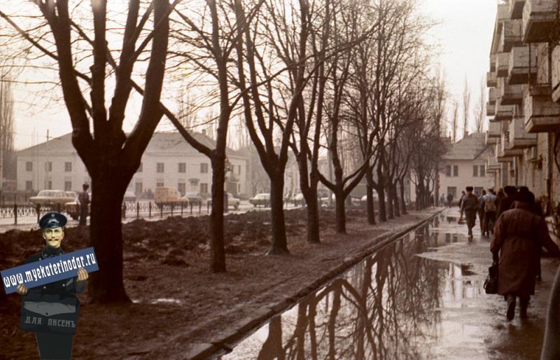 Краснодар. Улица Офицерская, 1988 год