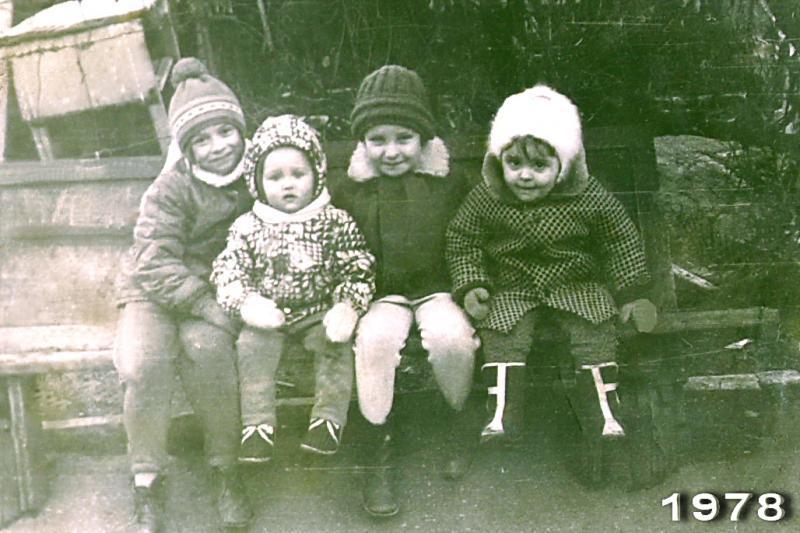 Краснодар. Двор дома по ул.Шаумяна, 85. 1978 год