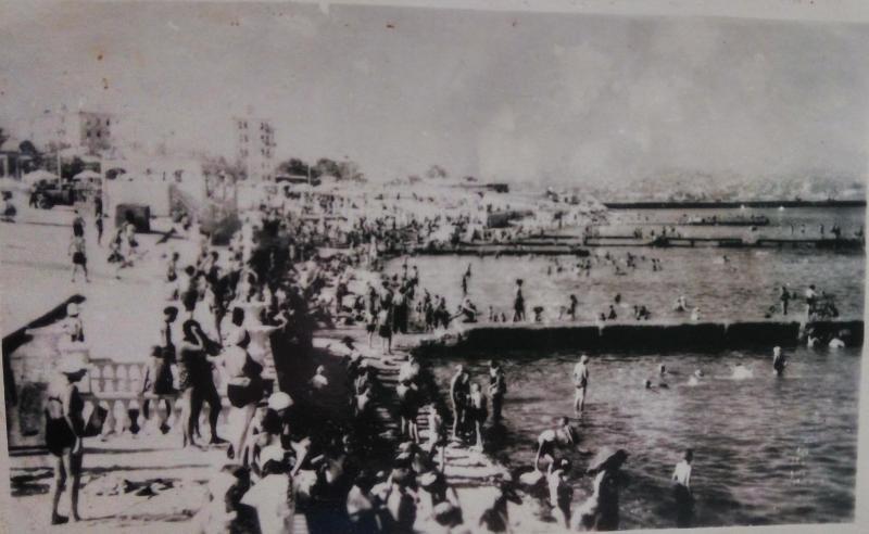 Новороссийск. Городской пляж. 60-е годы