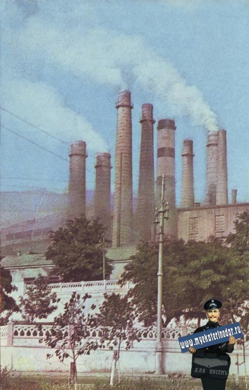 """Новороссийск. Цементный завод """"Пролетарий"""". 1968 год."""