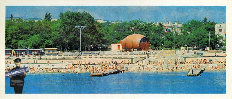 Новороссийск. Городской пляж, 1982 год