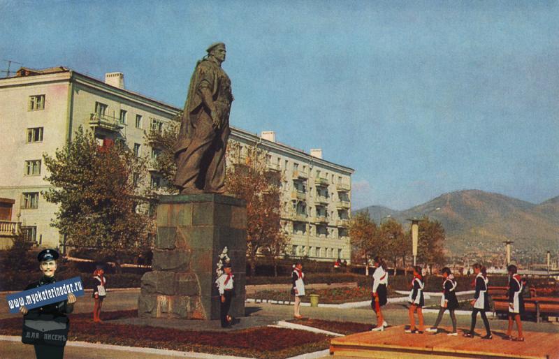 Новороссийск. Памятник Неизвестному матросу. 1973 год.