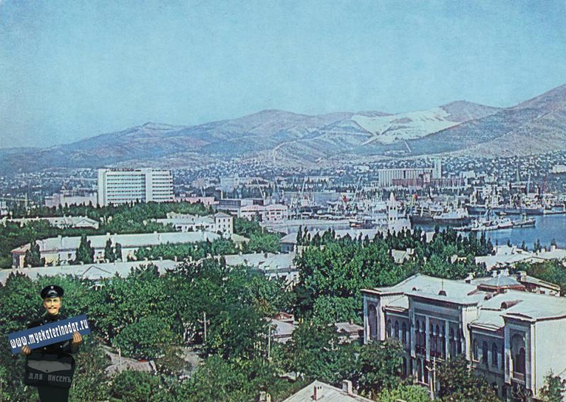 Новороссийск. Панорама города, 1985 год.