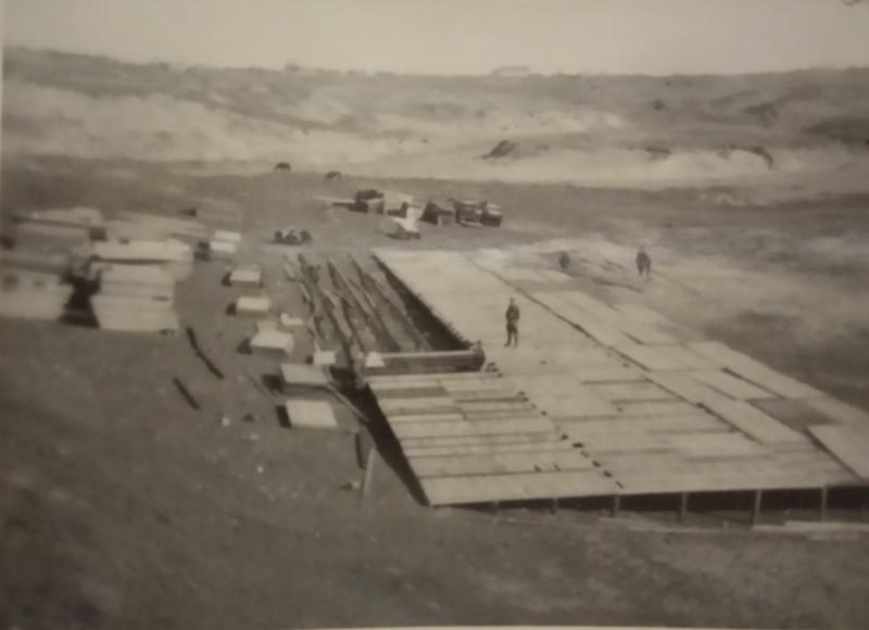 Строительство немецкого полевого лазарета #1, Тамань, 1943