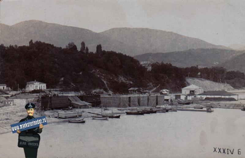 Туапсе. Строительство морского порта, до 1917 года