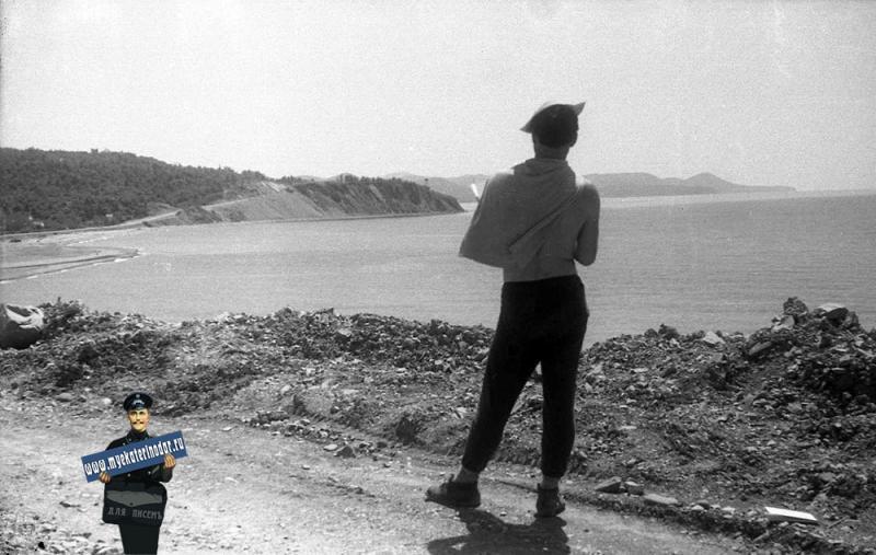 Вид на бухту пос. Лермонтово, 1964 год