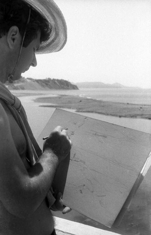 Зарисовки бухты пос. Лермонтово, 1964 год