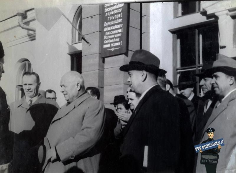 Усть-Лабинск. Встреча Н. С. Хрущева в г. Усть-Лабинске, 1958 год