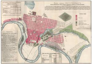 1888 год. Е.Д. Фелицын - План города Екатеринодара.